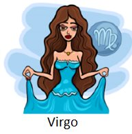 Cartoon Illustration of Horoscope Zodiac Signs with Beautiful Women