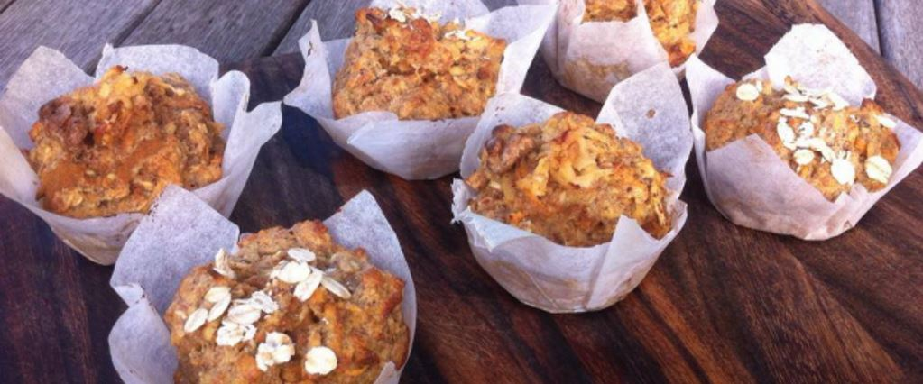Healthy Apple & Sweet Potato Breakfast Muffins