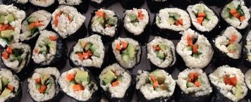 Carb Free Sushi with Tahini Dipping Sauce